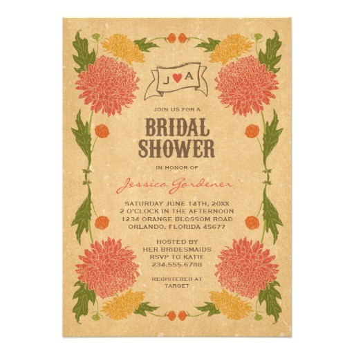 bridal shower invitations garden party