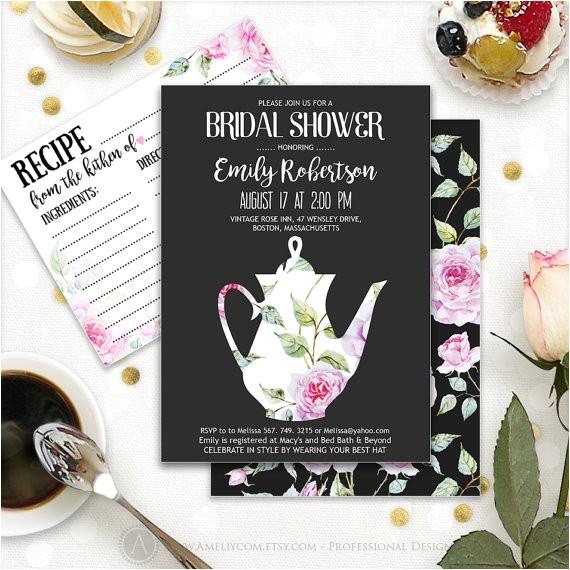 printable bridal tea party bridal shower