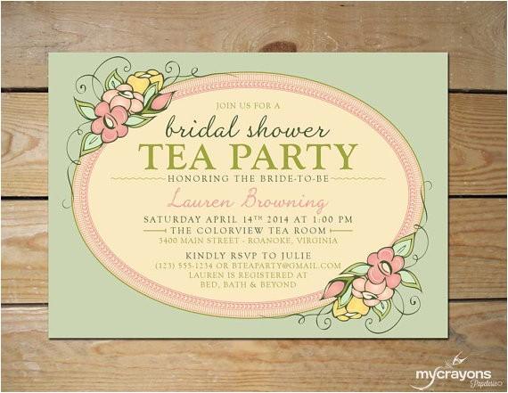 custom garden tea party bridal shower