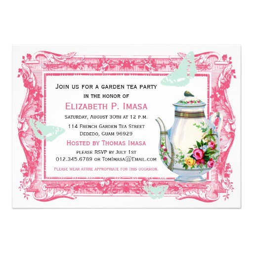 french garden tea party invitations 161259516082210656