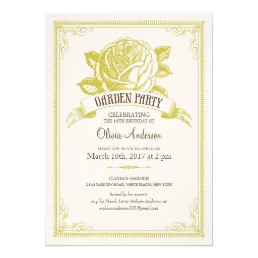 garden tea party invitations 161811097538561238