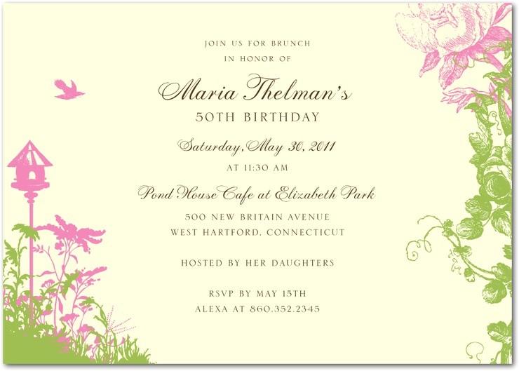 garden party invitation wording