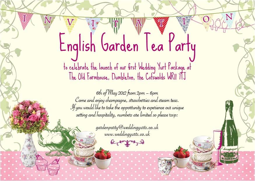 Garden Tea Party Invitation Wording Garden Party Invitations