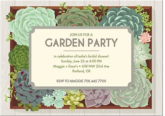 Garden themed Bridal Shower Invitations Best Bridal Shower Invitations Garden Party Ideas