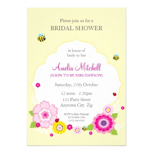bridal shower invites garden theme 1