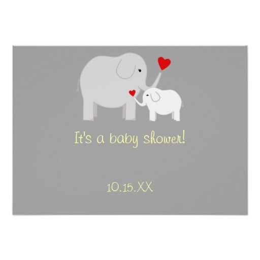 elephant baby shower gender neutral invitation