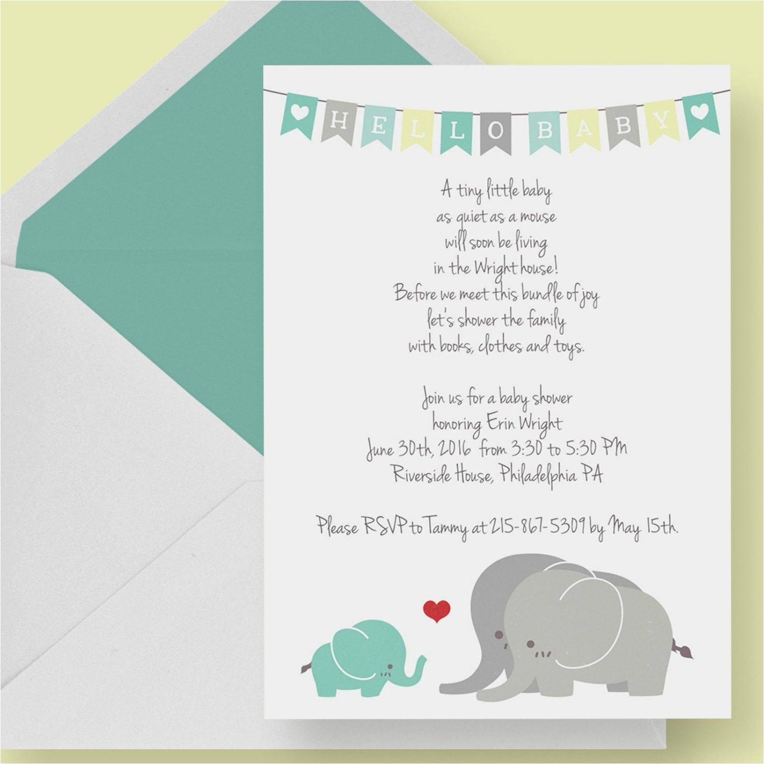 gender neutral elephant baby shower
