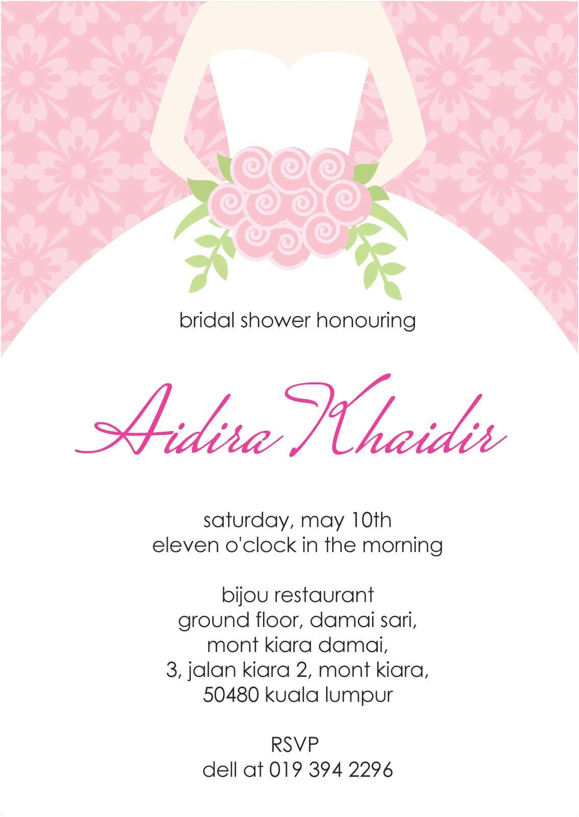 bridal shower invitation templates free printable