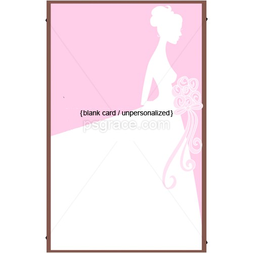 pink married bliss bridal shower invitations