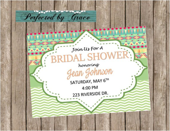 wedding bridal shower invitation generic
