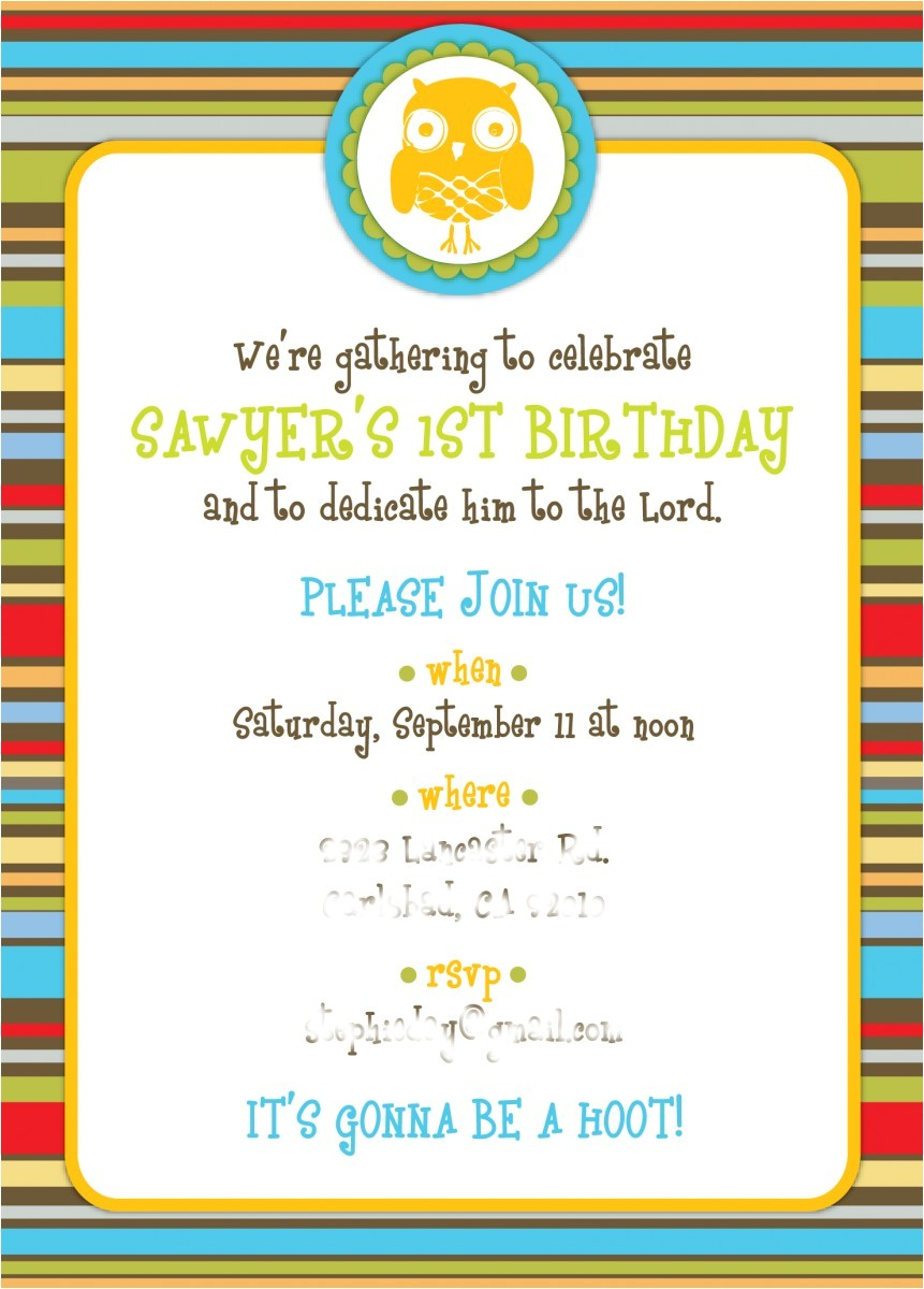 invitation wording to her party 7