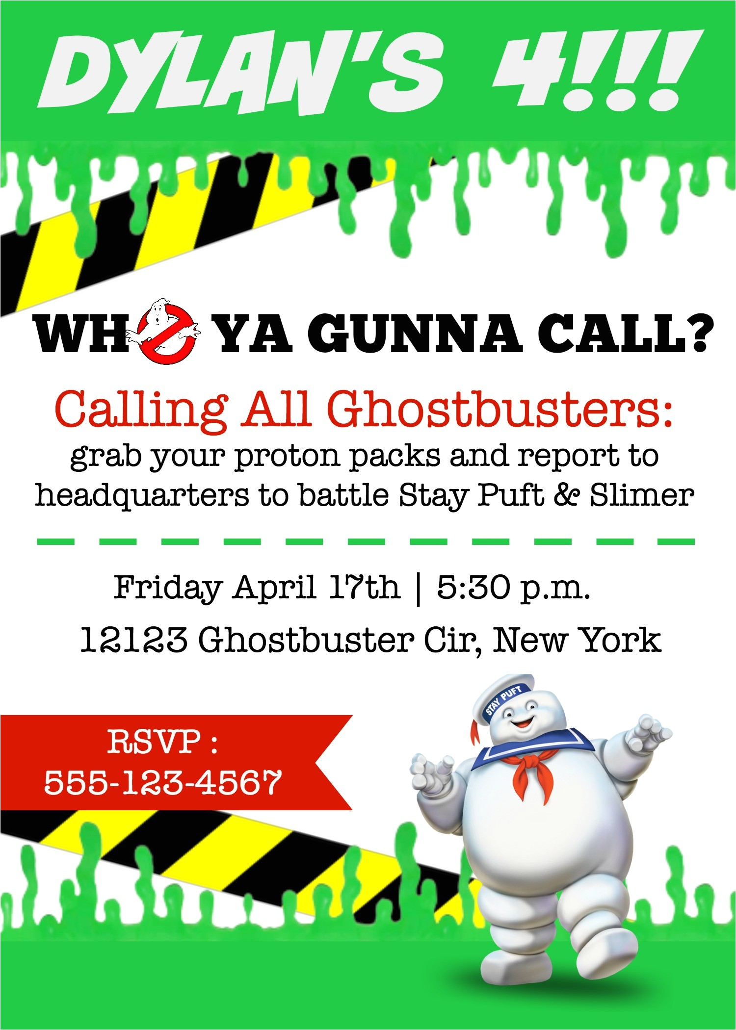 Ghostbusters Birthday Invitations Ghostbusters Birthday Party Elevate Everyday