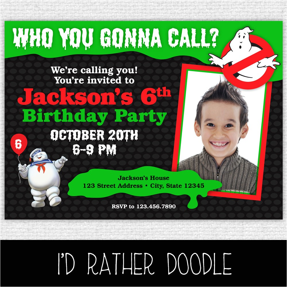 ghostbusters invitation printable