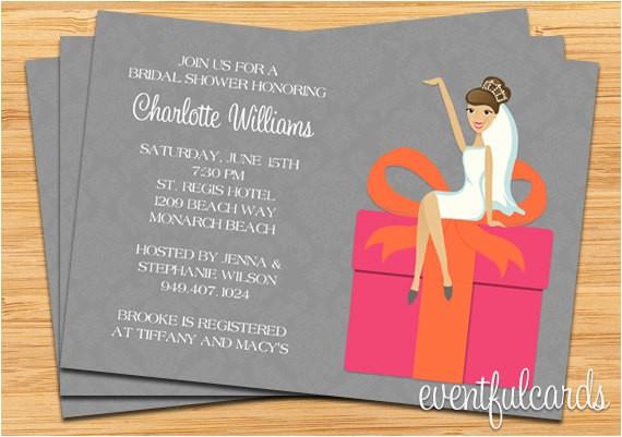 bridal shower invitations t card