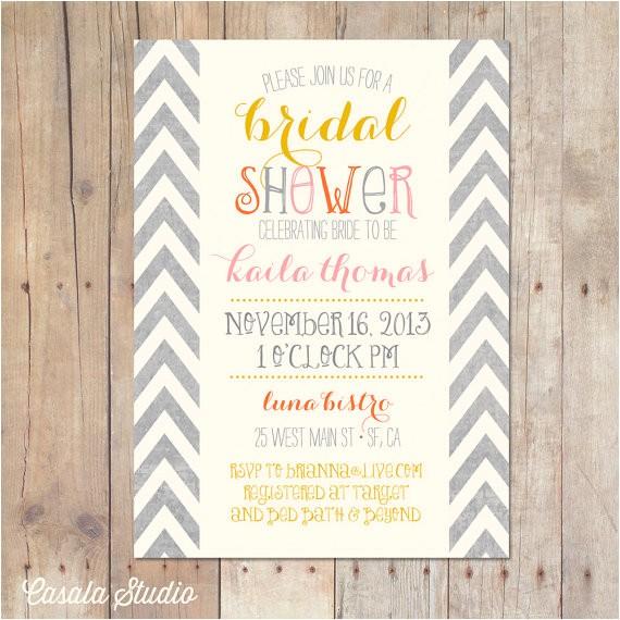 bridal shower invitations requesting