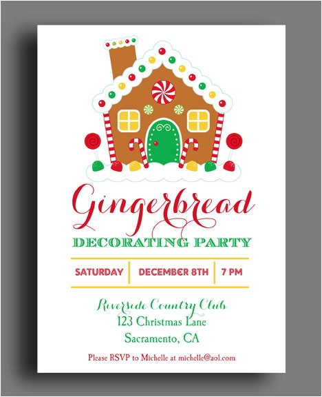 gingerbread house invitation printable christmas party 4