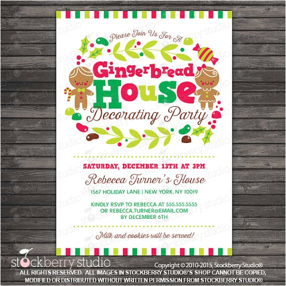 gingerbread house party invitation printable gingerbread