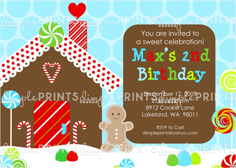 gingerbread birthday