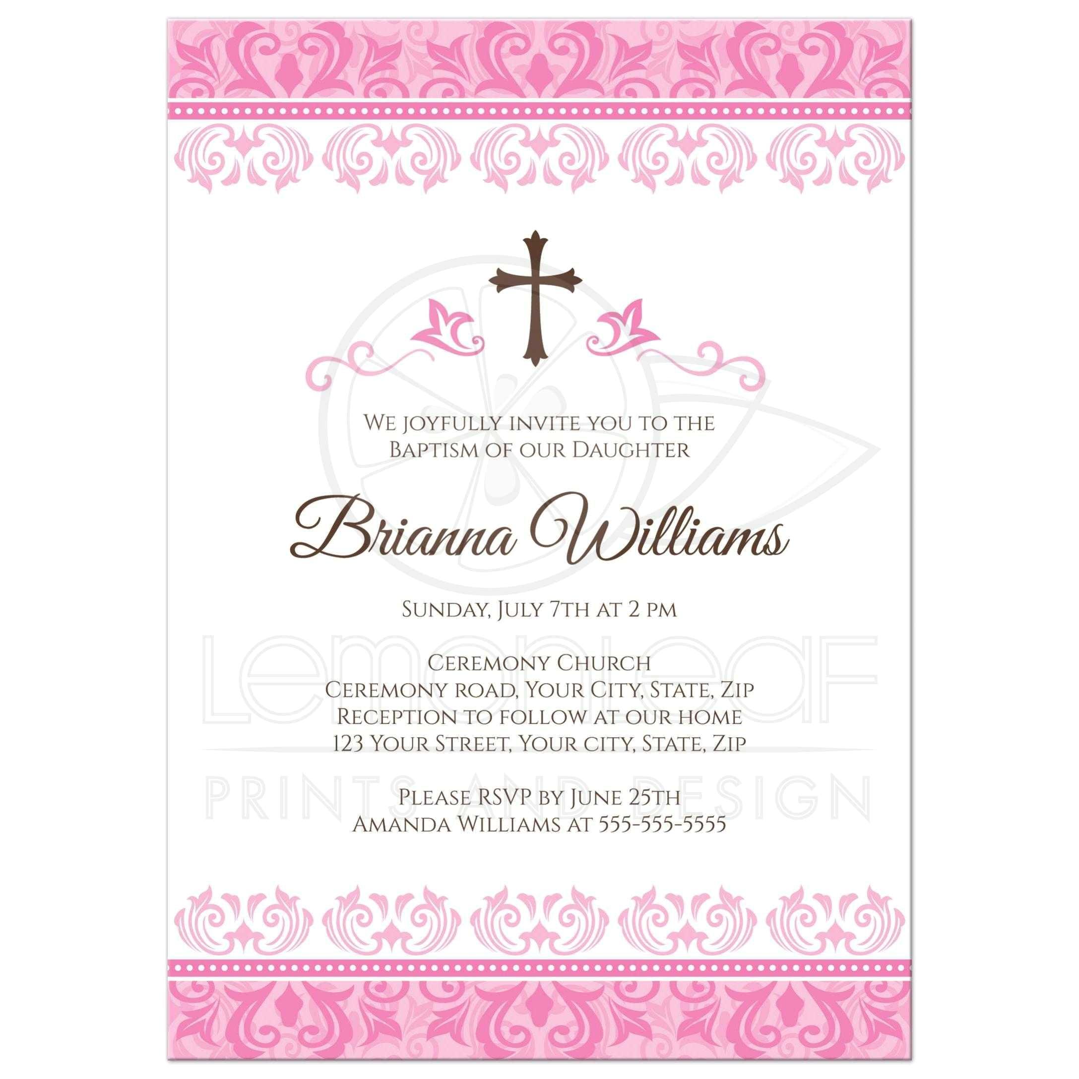 Girl Baptism Invitations Free Printable Baby Girl Baptism Invitations Baby Girl Christening