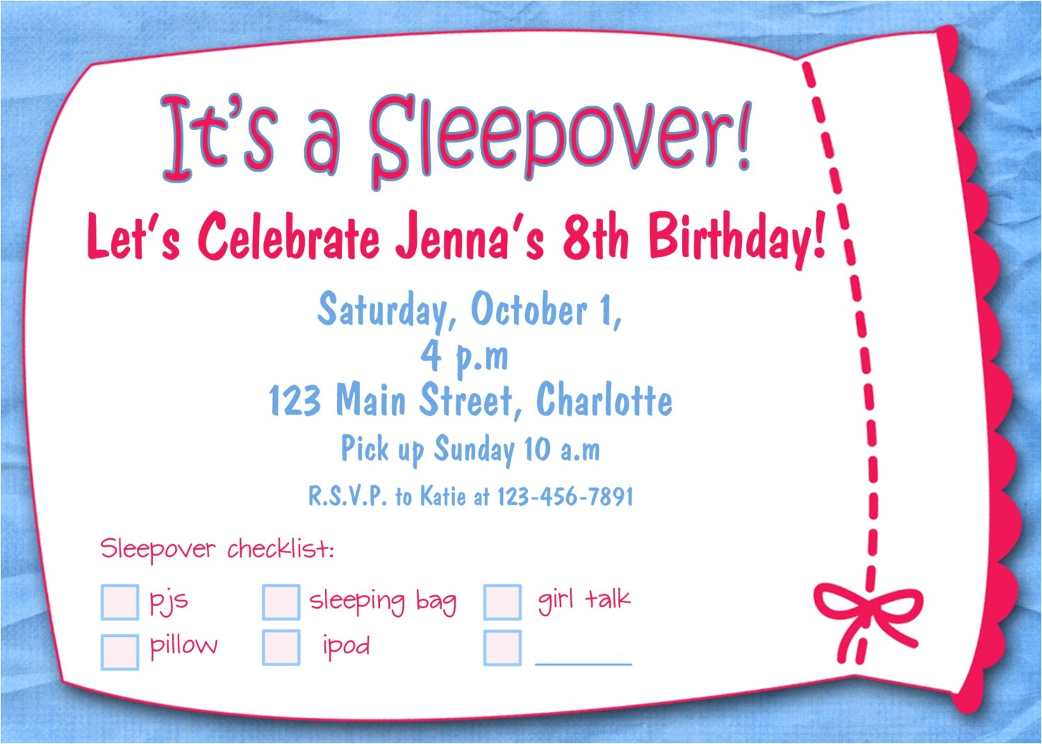 printable birthday invitations for girls template
