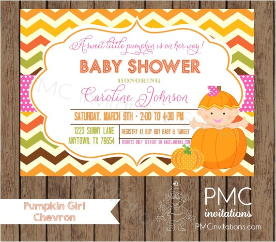 custom printed girl pumpkin baby shower 4