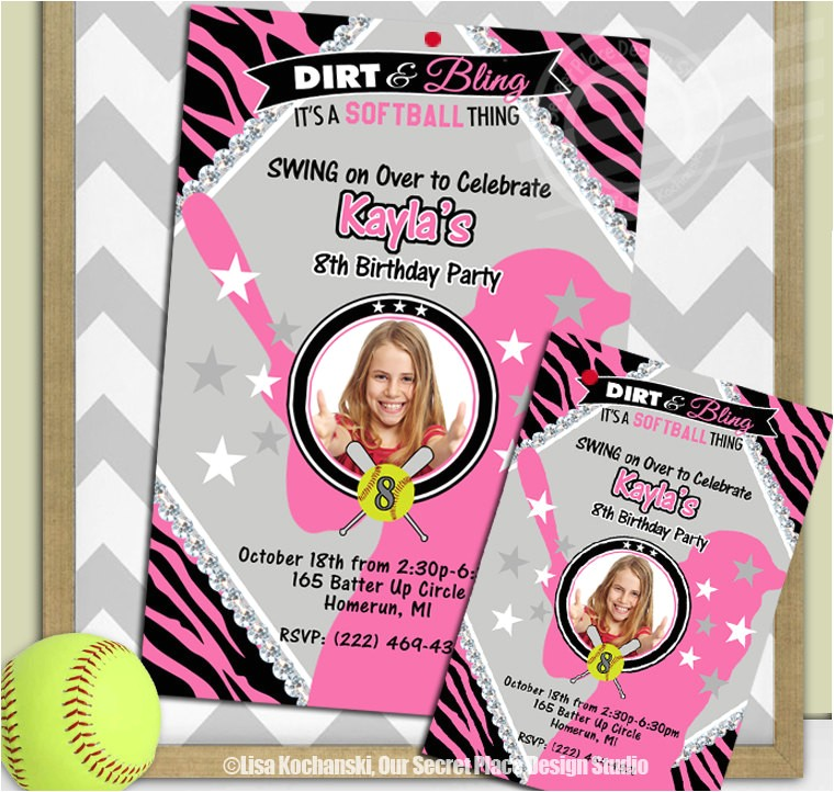 printable girls softball birthday party utm source=Pinterest&utm medium=PageTools&utm campaign=