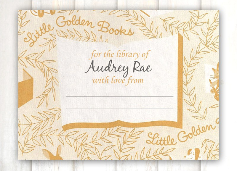 golden books baby shower invitation
