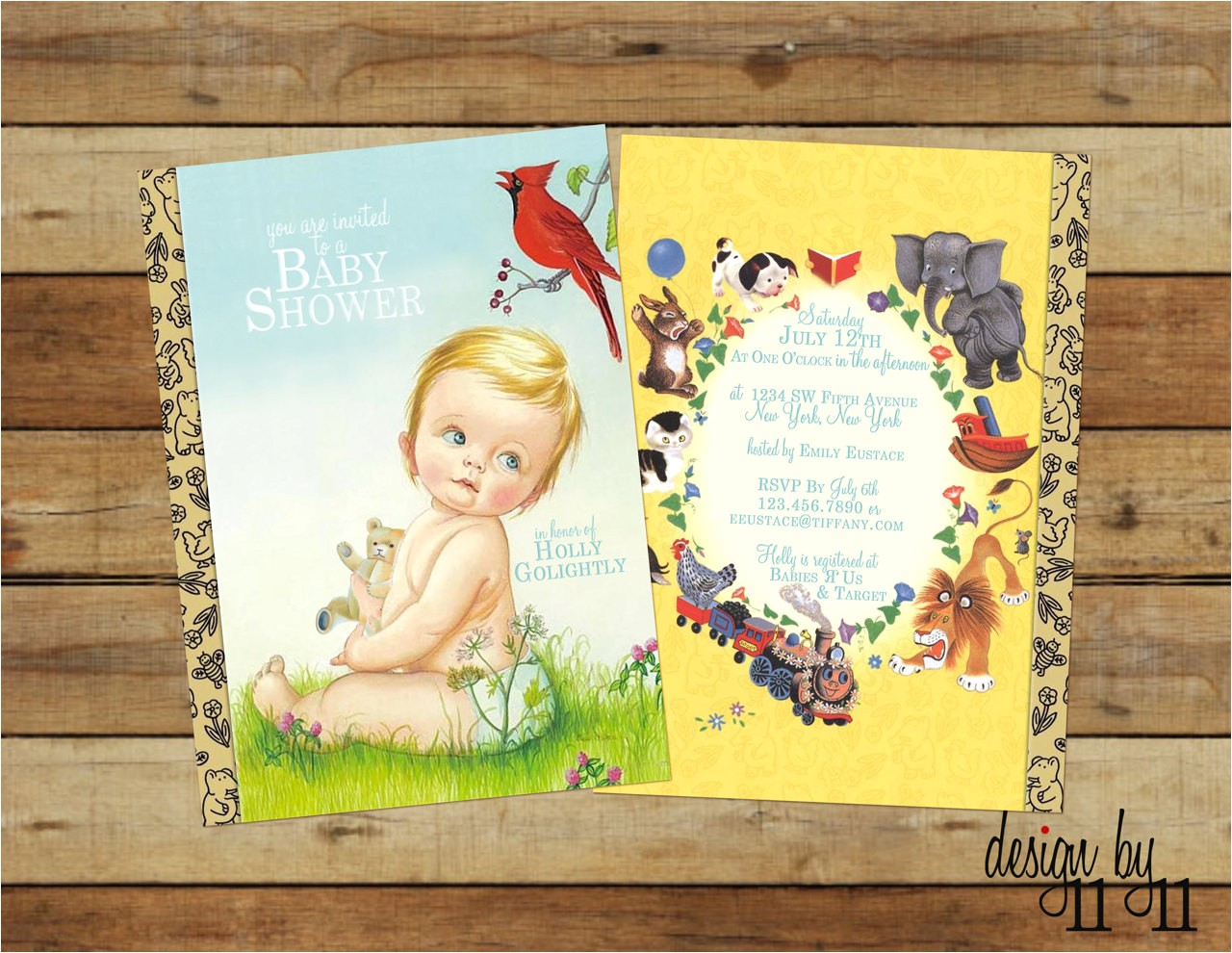 vintage little golden book baby shower