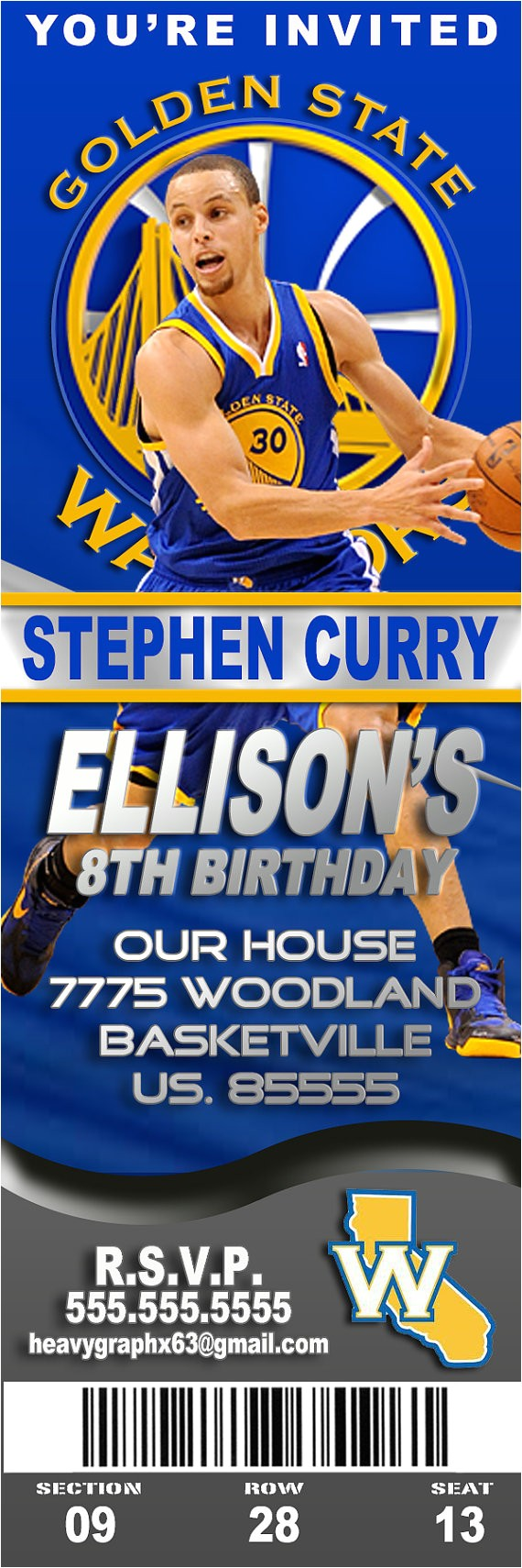 golden state warriors birthday party