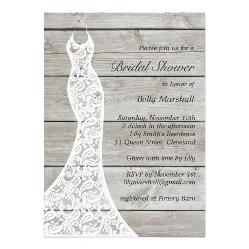 beautiful rustic bridal shower invitation