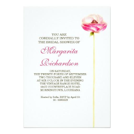 elegant beautiful design bridal shower invitations