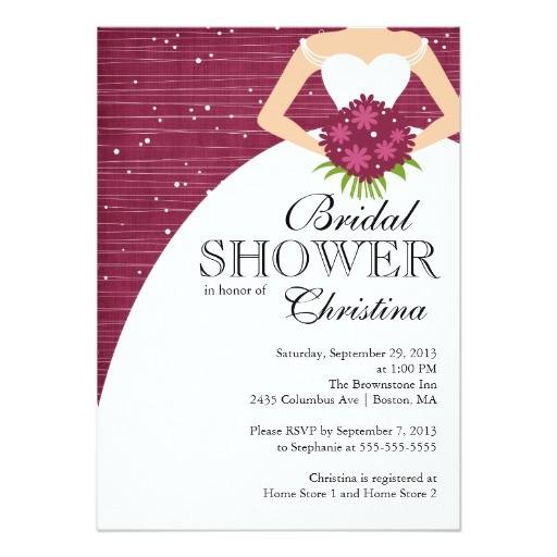 modern beautiful bride bridal shower invitation