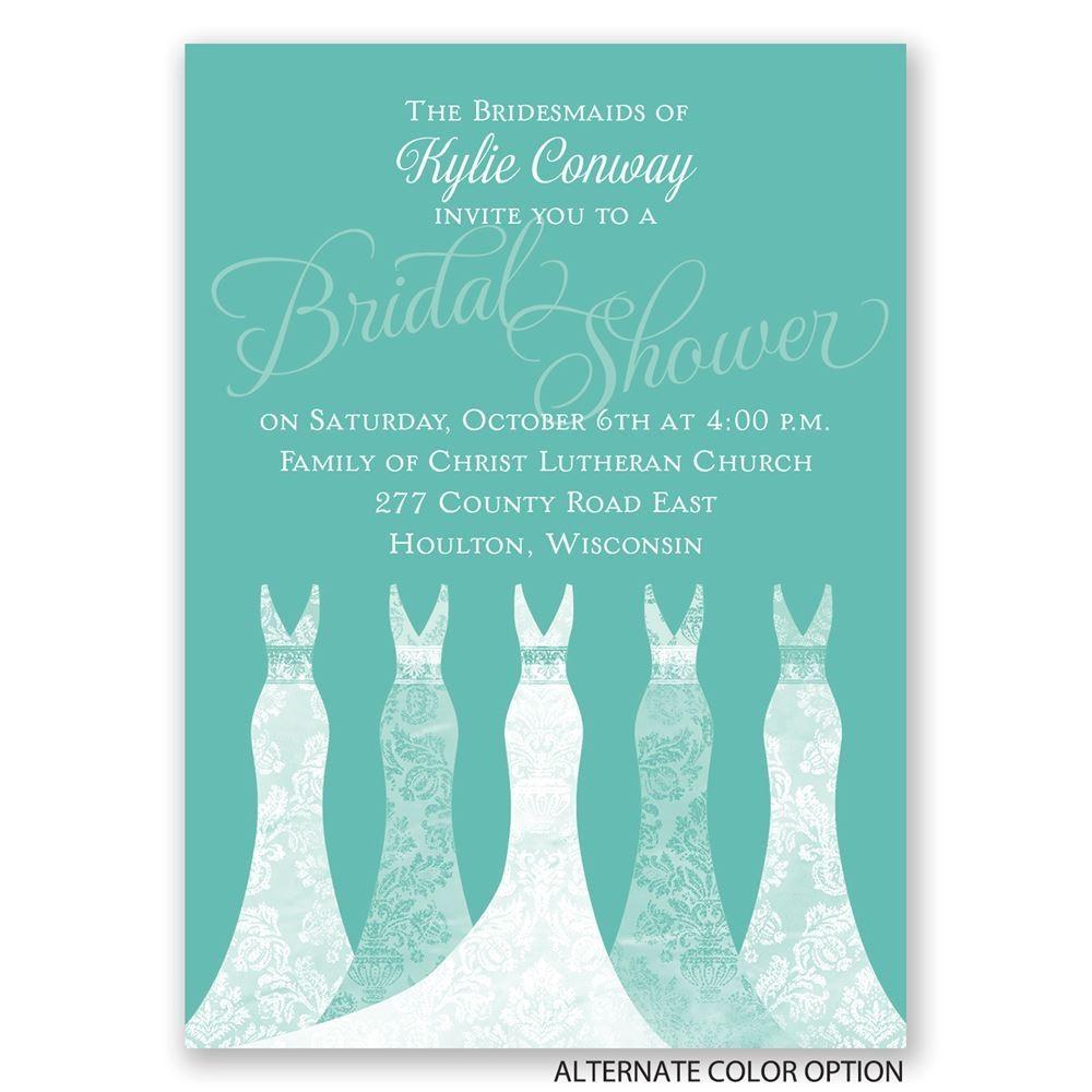 simply gorgeous mini bridal shower invitation