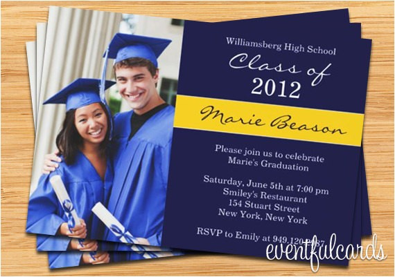 class graduation invitation photo card print