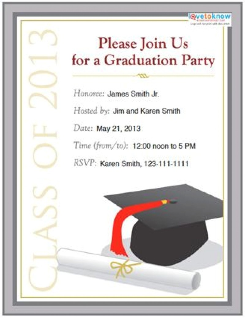 graduation party invitation template word