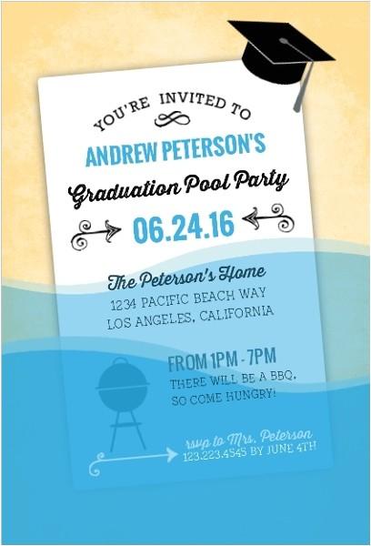 Graduation Pool Party Invitation Ideas Graduation Pool Party Ideas Decorations Invitations