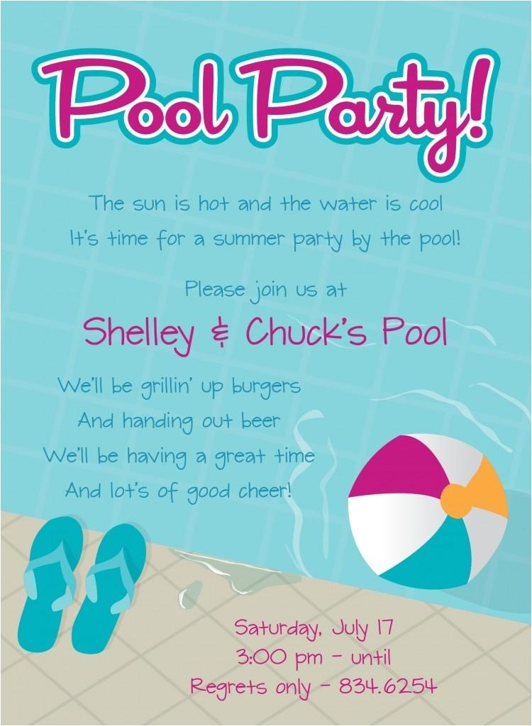 graduation pool party invitations