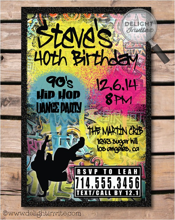 90s hip hop graffiti birthday