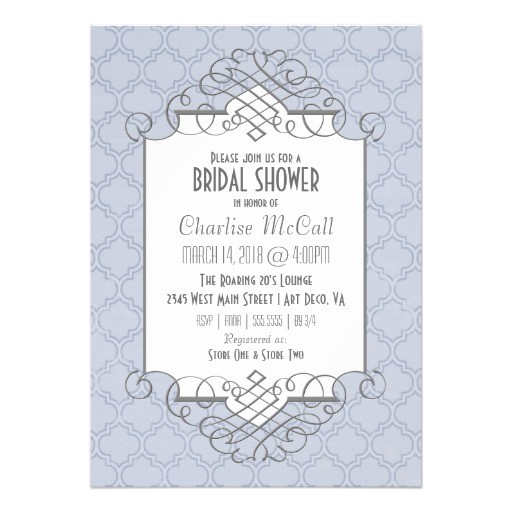 Great Gatsby Bridal Shower Invitations Art Deco Bridal Shower Great Gatsby Style 5×7 Paper