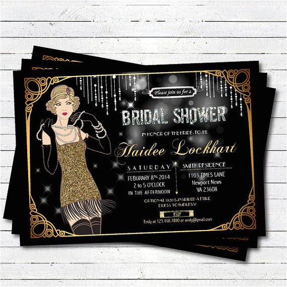 bridal shower invitation great gatsby