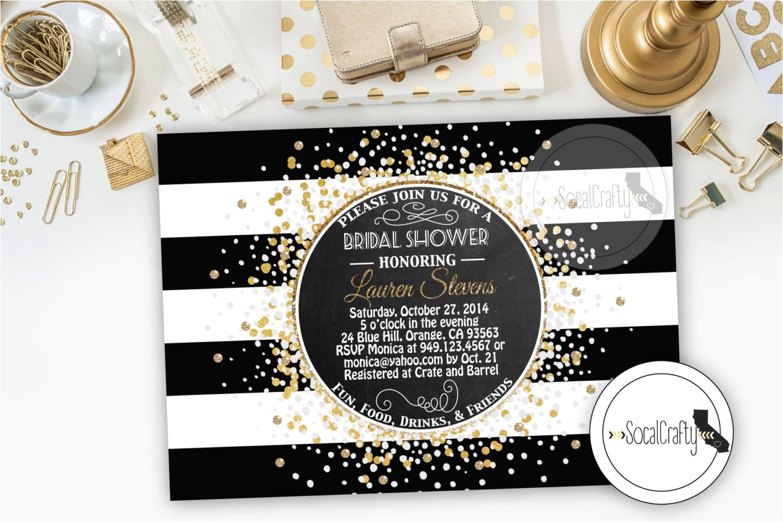 bridal shower invitation great gatsby