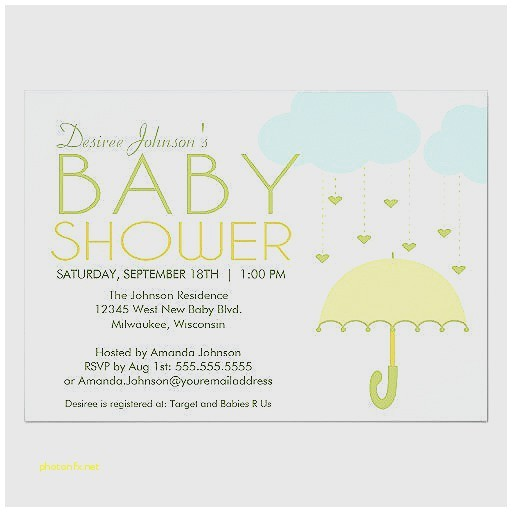 green and yellow baby shower invitations