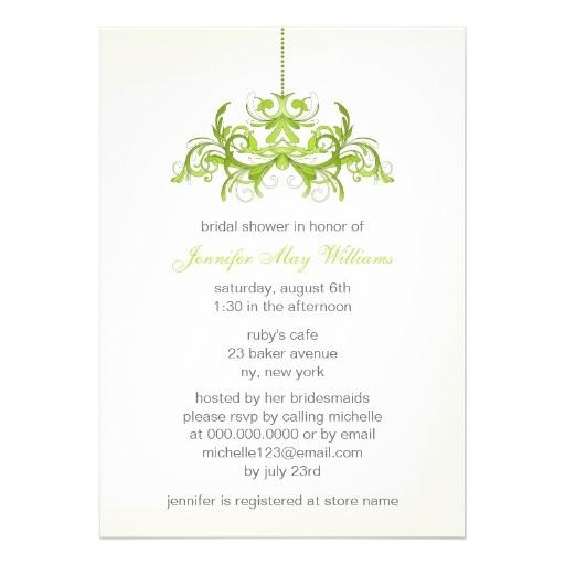 bridal shower invitations green