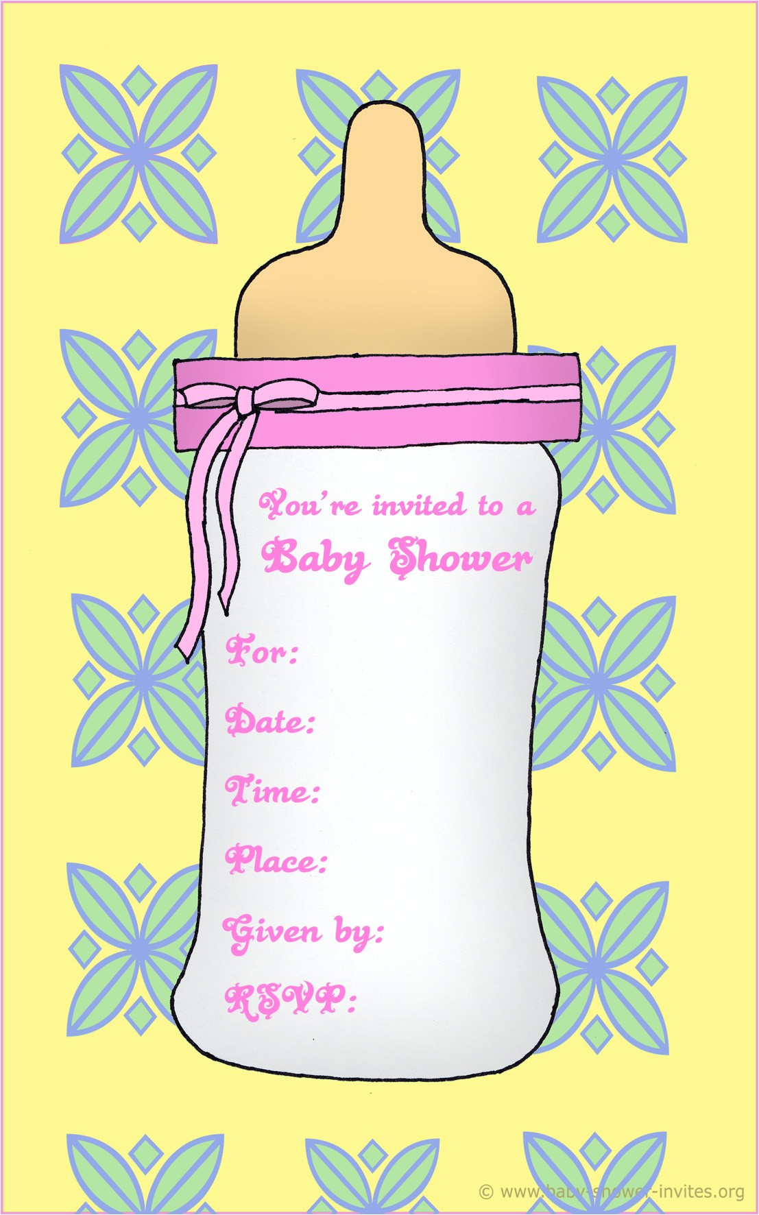 printable baby shower invitation cards