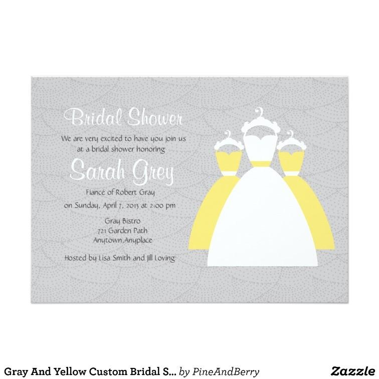 gray and yellow custom bridal shower invites 161720770619829390