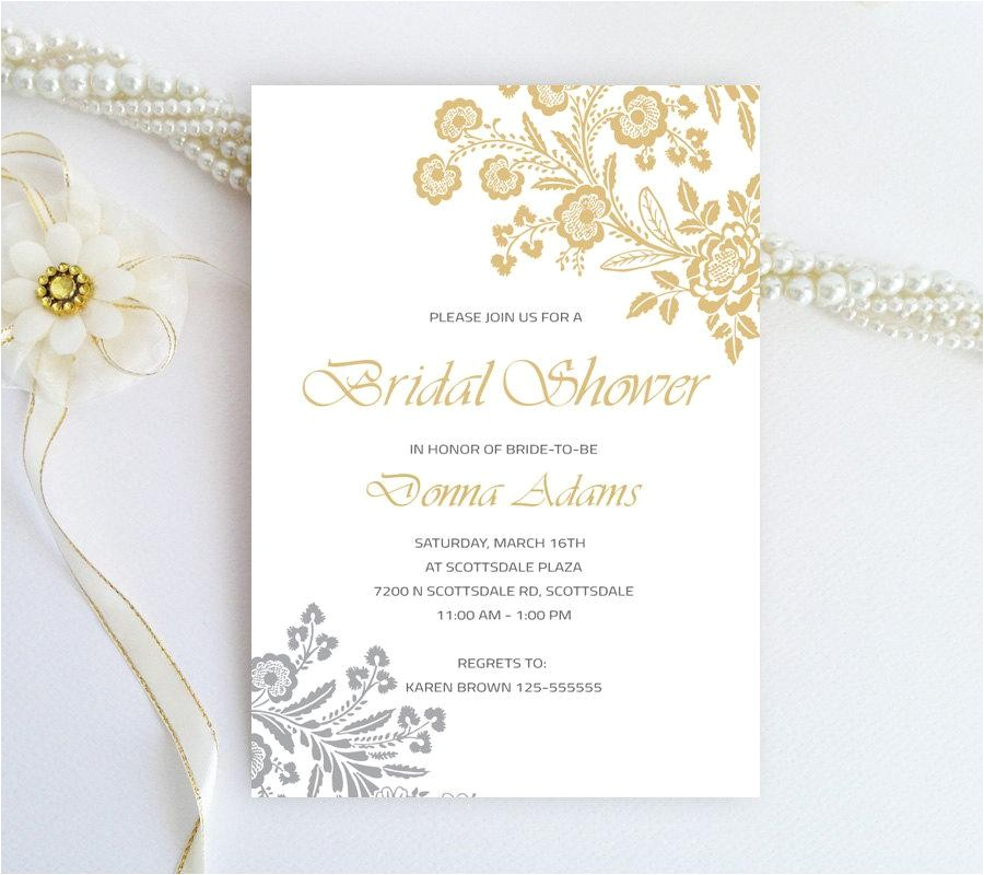 yellow and gray bridal shower invitations gold and silver rose lace bridal shower invitations printed inexpensive wedding shower