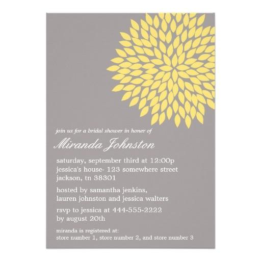 yellow gray flower bridal shower invitations 161198751293031244