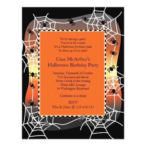 halloween birthday bash costume party invitation 161975927098789728