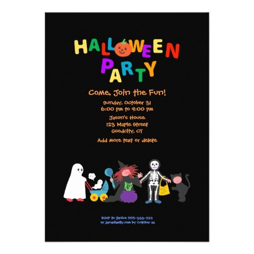 halloween party personalized invitation 161005479695424782