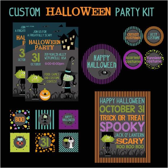 custom halloween party printable kit